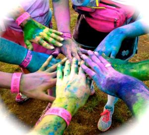 color run hands
