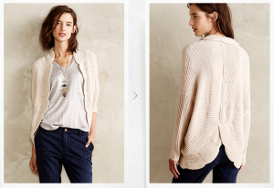 scallopped cocoon cardigan